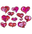 simple hearts vector image