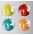 Steps icons desig vector image
