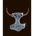 Thor hammer vector image