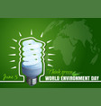 typographic design for world environment day vector image