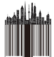 city bar code vector image vector image