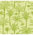 Green palm trees seamless pattern background vector image