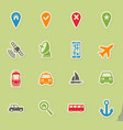 navigation simply icons vector image