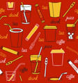 drinks on a dark background vector image