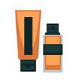 tonal bb tone cream moisturizer tube bottle woman vector image vector image
