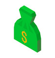 bag of money 3d icon with dollar sign vector image