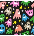 funny ghosts - seamless background vector image