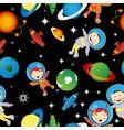 astronaut pattern vector image