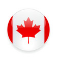 Round icon with flag of Canada vector image