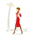 fashionable lady vector image