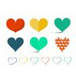 Hearts Set - Retro Heart Isolated on Light B vector image vector image