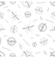 Zika virus seamless pattern Aedes Aegypti vector image
