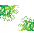 Green decorative background vector