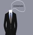 Business suit of businessman dress code vector image