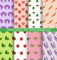 Colorful vegetable seamless pattern vector image
