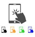 hand click smartphone icon vector image
