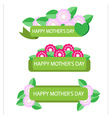 Label with flower for mother day vector image