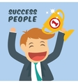 Success people cartoon design vector image