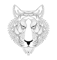Tiger Zentangle Tiger face vector image