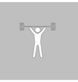 Weightlifting computer symbol vector image