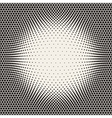 Seamless Halftone Circles Bloat Pattern vector image
