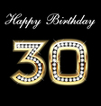 30th happy birthday vector image