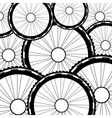 Bicycle wheel  bike wheels background vector image vector image