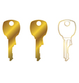 house key two vector image vector image