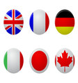 Icon label glossy round set vector image