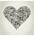 Business heart vector image