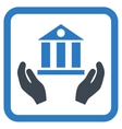 Bank Service Flat Icon vector image