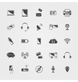 black Technology icons set vector image