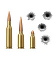 bullets and bullet holes vector image