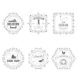 Farm Products Badges With Ornament vector image