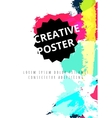 Hand drawn watercolor poster vector image