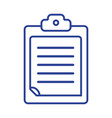 line check list business document in the clipboard vector image