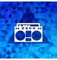 Retro tape recorderTriangle background vector image