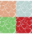 Set of Hearts Seamless Pattern vector image