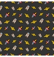 Space Rocket Robots and Saturn Seamless Pattern vector image