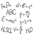 Hand drawn formulas set vector image vector image