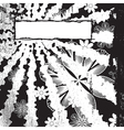 Monochrome Floral Grunge vector image