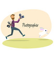 the photographer vector image