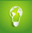 world map in light bulb shape vector image
