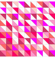tile pattern with pink triangle mosaic background vector image