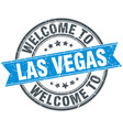 Welcome to las vegas blue round vintage stamp vector image