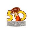Pro Football Championship 50 2016 vector image