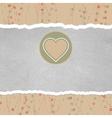 Retro valentines heart card vector image vector image