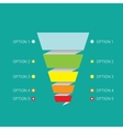 sales funnel vector image