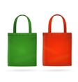 Color Fabric Cloth Bag Tote vector image