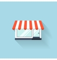 Flat web icon Internet shop vector image